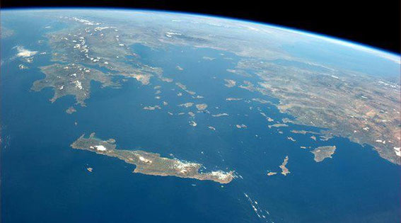 Crete Islands and Aegean Sea