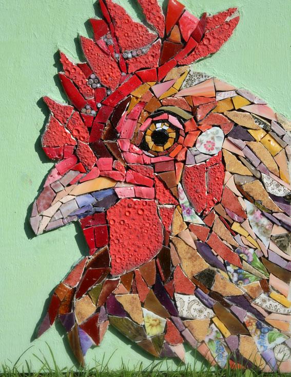 Caruso, Mosaik Hahn/mosaikarbeiten Angelika Algieri