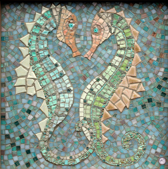 Hippocampus Mosaik-Seepferdchenbild