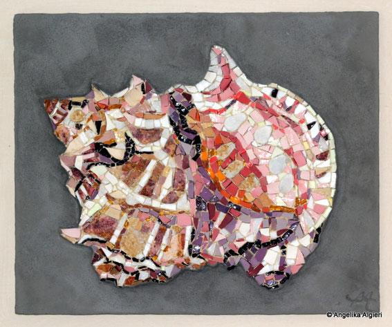 Mosaik-Muschel-Bild