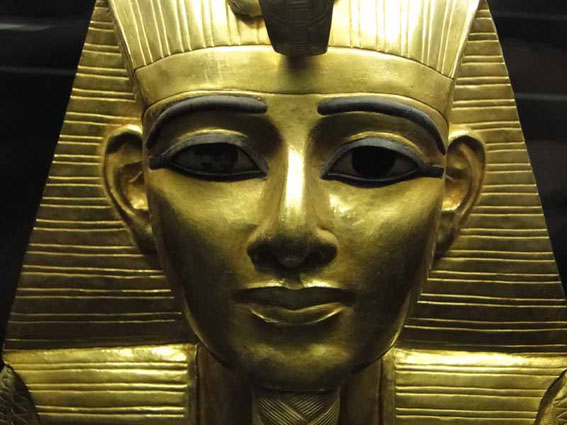 Golden mask of Psusennes I. (21st Dyn.) from Tanis