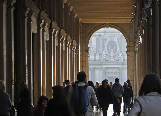 Turin has so many arcaded side walks - a city for each kind of weather