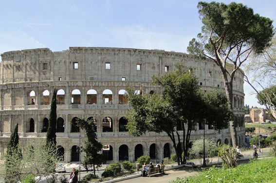 And finally: The Colosseum - the amphitheater of Emperor Vespasian.