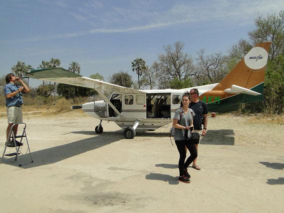 Landed at Oddball's airstrip