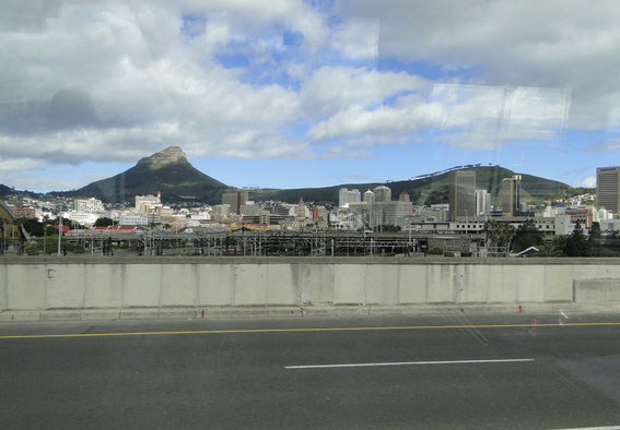 The Table Mountain in the city