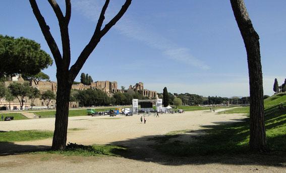 Der Aufbau im Circus Maximus