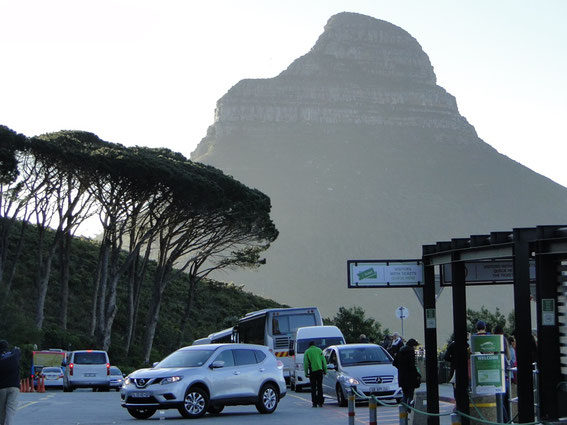 Back down again. View to the 'Lion Head' of the Table Mountain