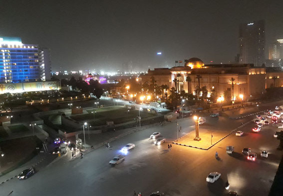 View from my hotel to Tahrir Square and the Egyptian Museum
