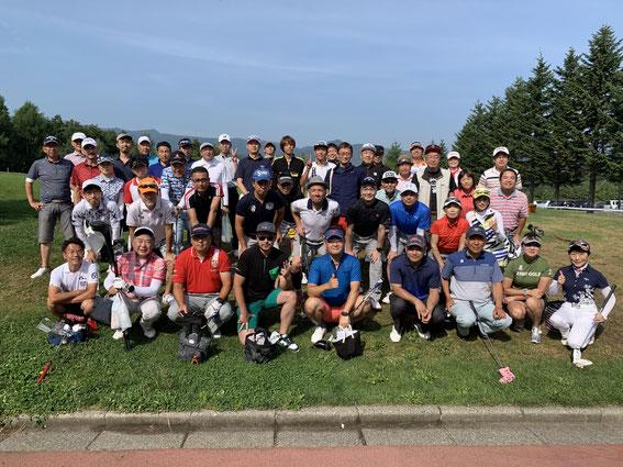 第7回J-REC北海道支部ゴルフコンペの集合写真