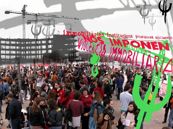 Nº 69: Por una vivienda digna (Manifestación en Barcelona-Sants)