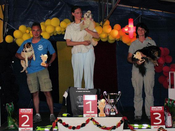podium Coupe de Belgique Small
