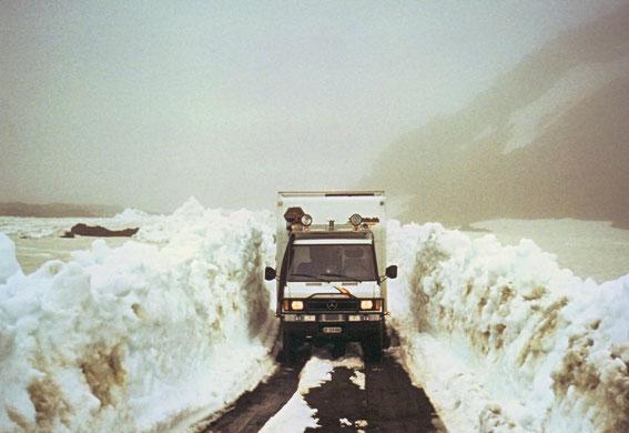 Schneemauern bei der Askja
