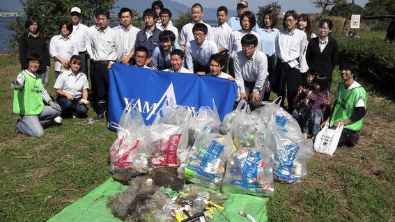 琵琶湖南湖東岸、木浜周辺にて毎年恒例のゴミ拾いが開催されました