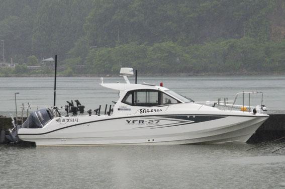 7月10日より、近藤キャプテンの船はピカピカの新艇となりました! 大雨の大浦漁港にて撮影