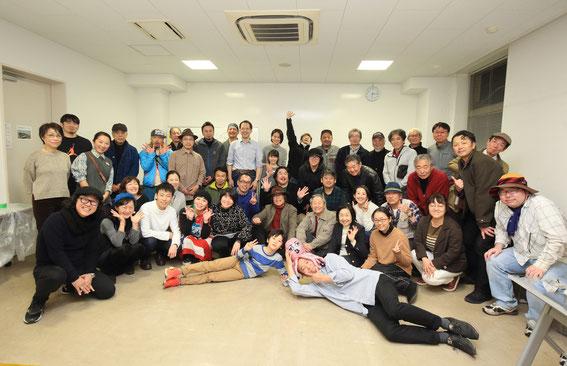 2月15日に開催されたパーティーにて、記念撮影(廣田さん撮影)