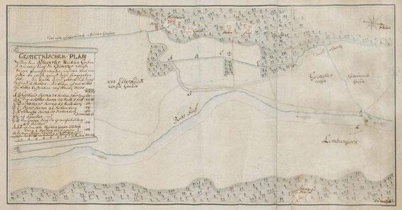 Pan des Mühlengrabens vor 1800 / LAV NRW W Karten A Nr. 5477