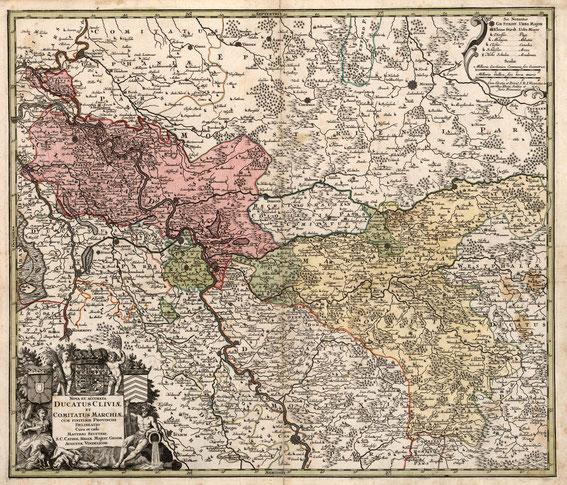 Teritoialkarte Kleve - Mark, 18. Jahrhundert / LAV NRW W Karten A Nr. 16710