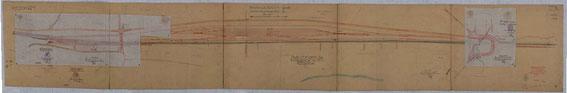 Plan des Verschiebebahnhofes in einem frühen Stadium, LAV NRW R BR 1213 00348