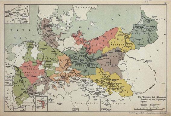 Die Provinzen des Königreiches Preußen nach 1815