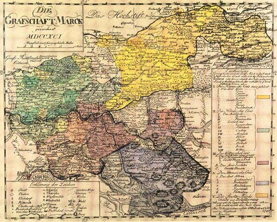 Die Grafschaft Mark 1719 / LAV NRW W Karten A Nr. 12718