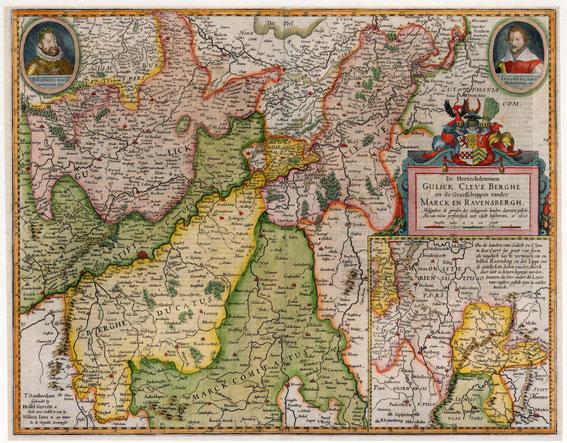 Teritoialkarte Jülich, Kleve, Berg und Mark 1610 / LAV NRW W Karten A Nr. 10295