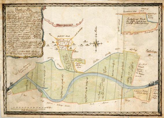 Plan der Geisecker Markenteilung von 1776 / NRW LAV W Karten ANr. 5515