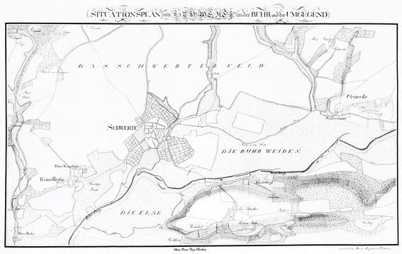 Situationsplan von Schwerte und Umgebung / LAV NRW W Karten A 31031