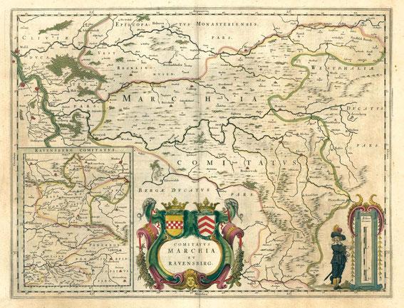 Die Grafschaften Mark und Ravensberg / LAV NRW  W Karten A Nr. 16549