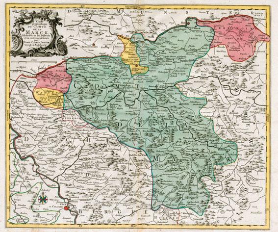 Grafschaft Mark, 1. Hälfte 18. Jahrh. / LAV NRW W Karten A 46917
