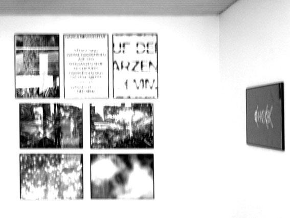 "Navigationssysteme mehrteilig 1972 je 84x60 cm ""Dark Reflection (1) 1967 /1972 Unikat 60x80 cm"