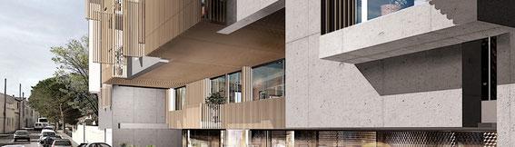 2011 - 50 logements à Marseille (13) - associé à D. Deluy architecte-mandataire: SIFER promotion  -  MO: POSTE IMMO - Surface: 3600 m² SHON - Budget: 6,5M € HT