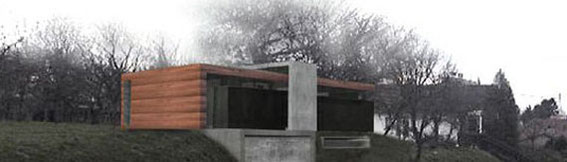 2002 - Maison pour un couple et deux enfants à Strasbourg (67) Esquisse - MO:privée Surface: 170 SHON + aménagements extérieurs Budget: 300 000 € HT