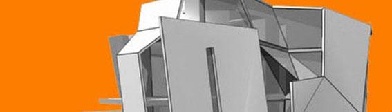 2002 - Immeuble d'habitation sur 4 niveaux à Strasbourg (67) Esquisse - MO:privée Surface: 800 m² SHON + aménagements extérieurs  Budget: 1M€ HT