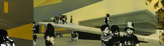 2002 - Ecole primaire-Rosheim (67) Concours d'idée - lauréat - sans suite MO: commune de Rosheim Surface: 1600 m² SHON + aménagements extérieurs Budget: environ 2 M€ HT