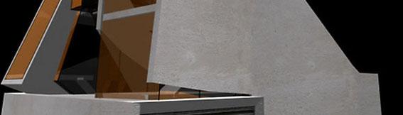2002 - Variations sur le thème de la maison individuelle sous l'emprise de la contrainte Esquisses - MO: N.C. Surface: N.C. Budget: N.C. Localisation : Strasbourg (67)