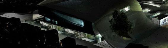 2005 - Asian Cultural Complex Concours international -Gwangju-Corée du sud - (associé à L. Mailloud et S. Mollon architectes) MO: ville de Gwangju Surface: 140 000 m² SHON + aménagements extérieurs  Budjet: N.C.