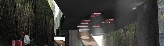 2005 - Médiathèque-Cork-Irlande Concours international - (associé à L. Mailloud et S. Mollon architectes) MO: ville de Cork Surface: 4000 m² SHON + aménagements extérieurs  Budget: 7M € HT