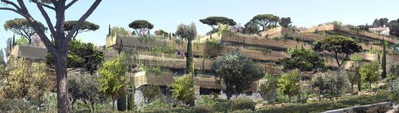 2014 - 60 LOGEMENTS  CARNOUX-EN-PROVENCE (13) - collaboration avec J. Siame architecte mandataire - MO: UNICIL - Surface: 4 200m² SDP + aménagements extérieurs - Budget: 5 500 K€ HT