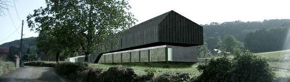 2004 - Hotel à Montigny-les-Arsures (39) - projet HQE 25 chambres, restaurant, sauna, piscine Esquisse - (associé à Chevallier-Garruchet architectes mandataires) MO: privée Surface: 1400m² SHON + aménagements extérieurs Budget: 2,3M € HT