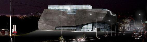 2006 - New National Library of the Czech Republic Concours international -Prague - république Tchèque -(associé à Struc Archi) MO:république Tchèque Surface: 50 000 m² SHON + aménagements extérieurs  Budget: 60 M € HT
