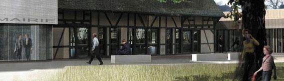 2010 - Extension restructuration de la mairie de La Wantzenau(67) - projet HQE -collaboration avec Chevallier-Garruchet architectes mandataires MO: commune de La Wantzenau Surface: 2 050 m² SHON + aménagements extérieurs Budget: 2,1 M€ HT - PROJET LAUREAT