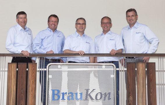 v.li.n.re. Christian Nuber, Klaus Rauchenecker, Friedrich Banke, Christian Kull, Markus Lohner (2017)