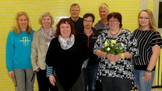 Vorstand 2015: (v.l.) Rabea Sötje-Looft, Susan Groth, Karina Ney, Jens-Peter Wiborg, Elke Eggers, Holger Dahlke, Heike Jakobs, Agnieszka Auffuhrt