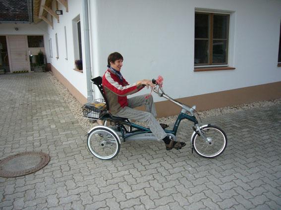 Erste Probefahrt mit dem Easy Rider 2