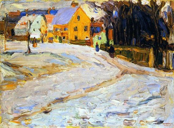 Wassily Kandinsky - Schwabing, Nikolaiplatz - 1902