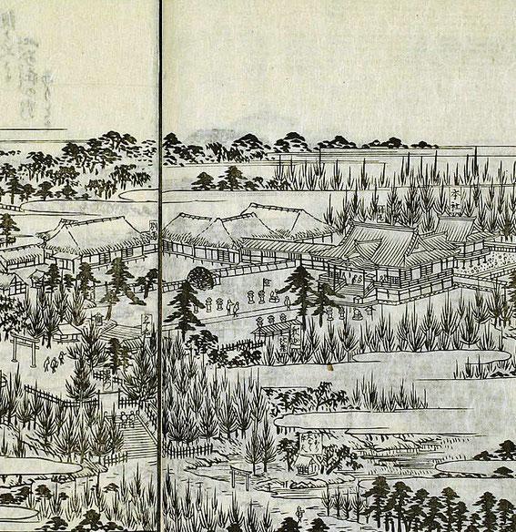 金毘羅社の部分拡大図