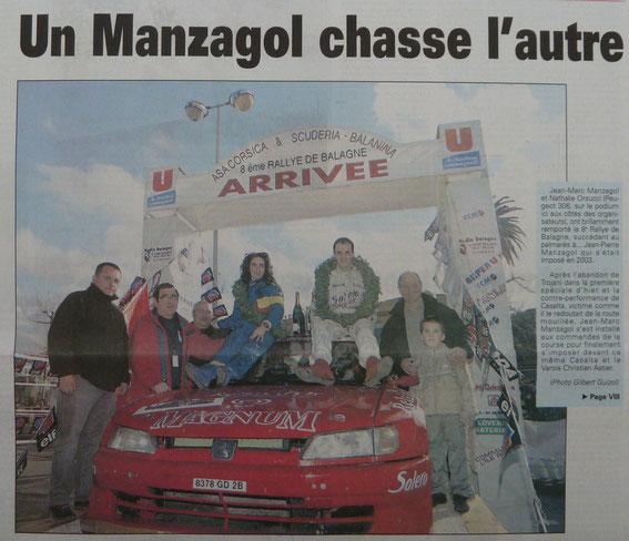 Jean Marc Manzagol-Nathalie Orsucci vainqueurs de l'édition 2004