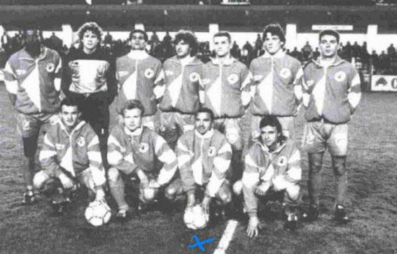 Avec le SCB face au GFCA en 90/91