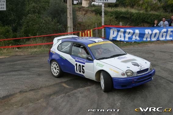 Tour de Corse 2003 avec Marie Josée Cardi
