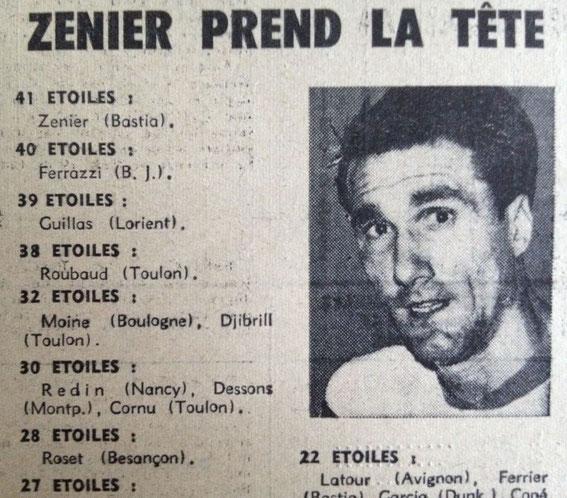 Sur la photo, Jeannot Vincenti ) Document France Football